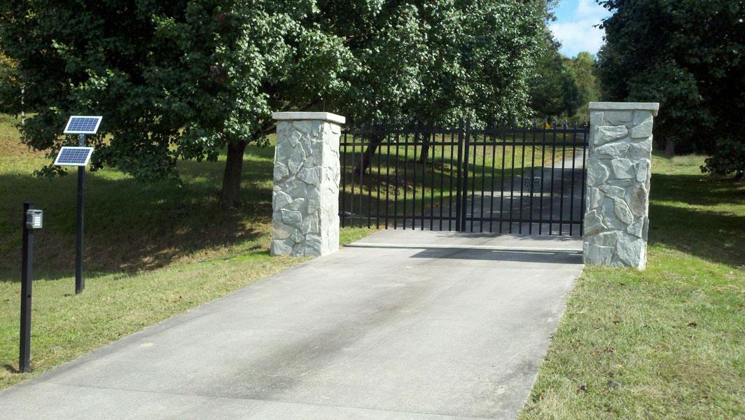 Estate Gates Winston Salem Clemmons Nc Piedmont Fence Inc